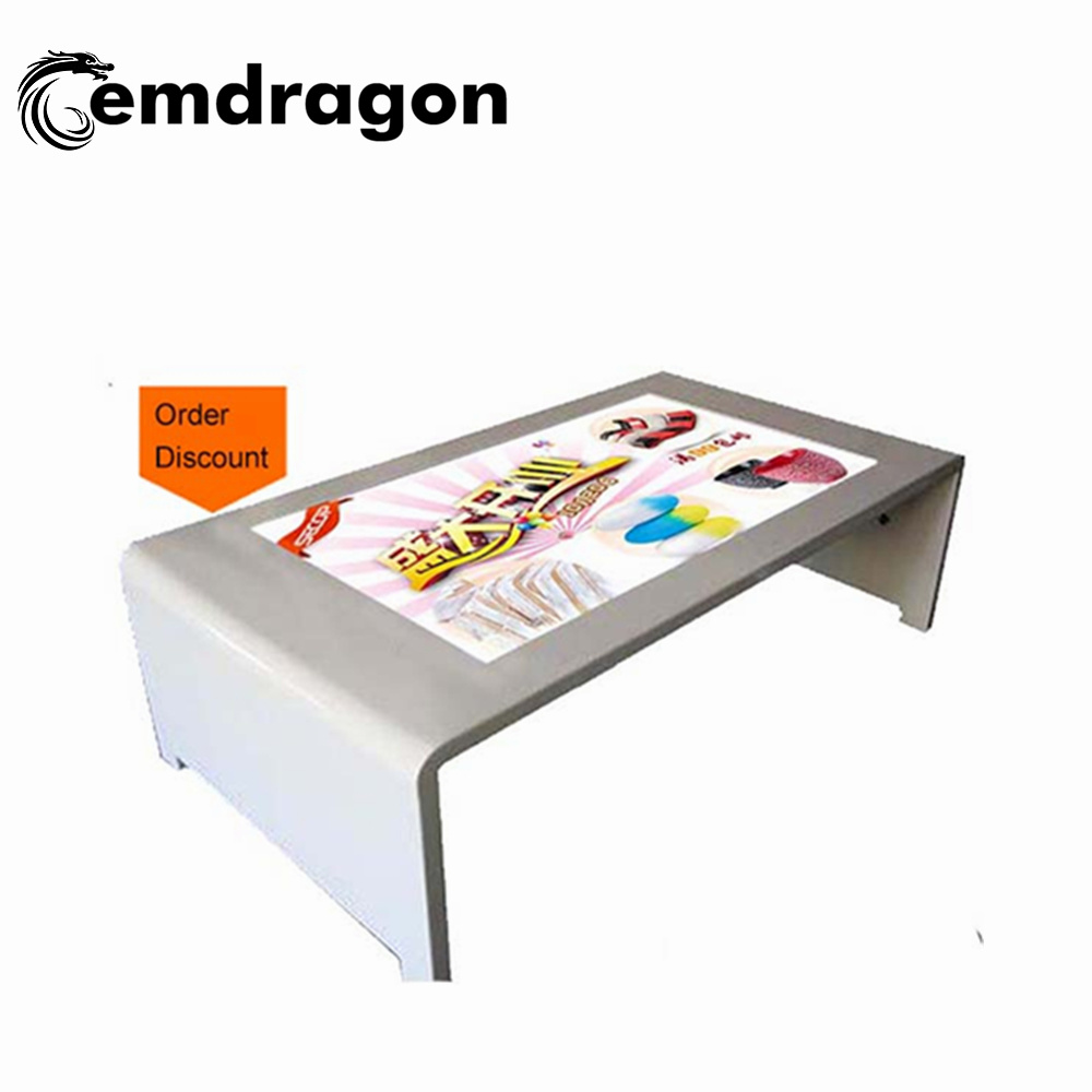China 49 Inchunlimited Multi Touch Surface Free Standing Interactive Kiosk Table Infrared Ad Player Lcd Digital Signage Gold Supplieradvertising Media