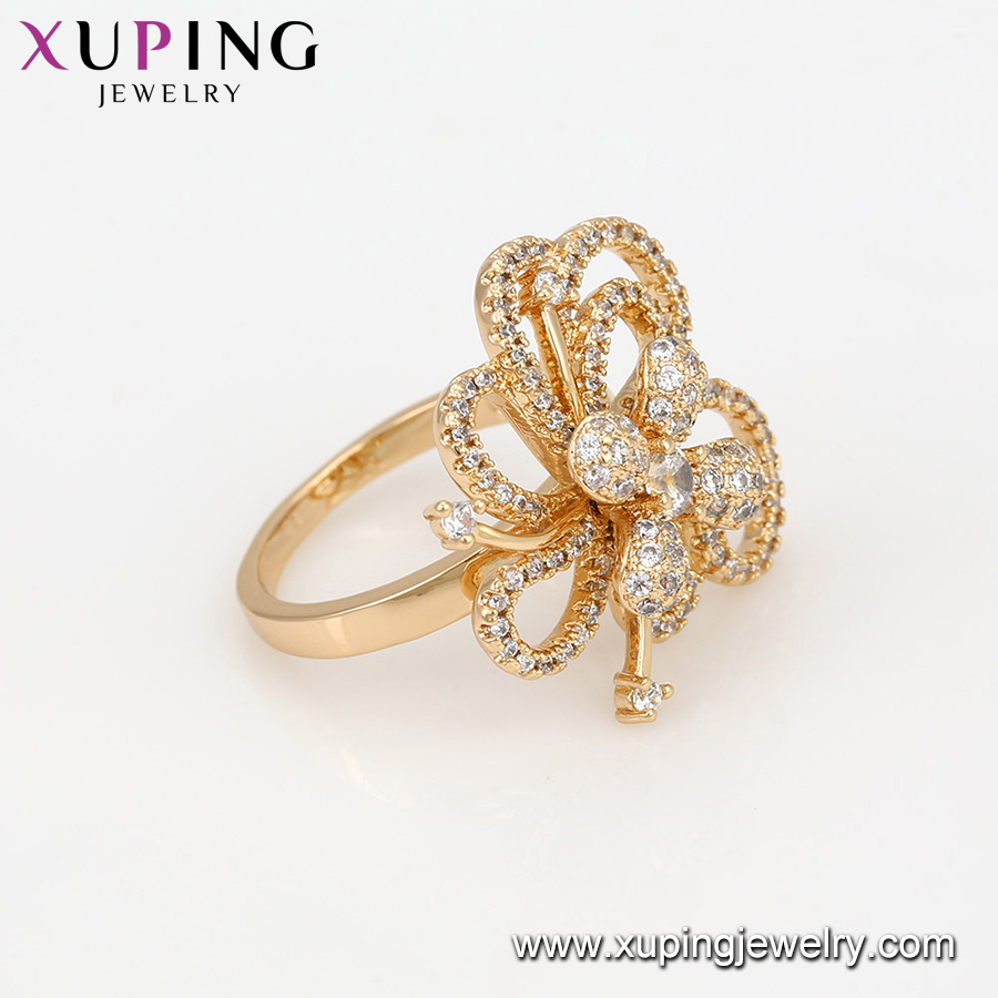 China 14889 Luxury Jewelry Elegant Diamond Zircon Ring, Latest 18K ...