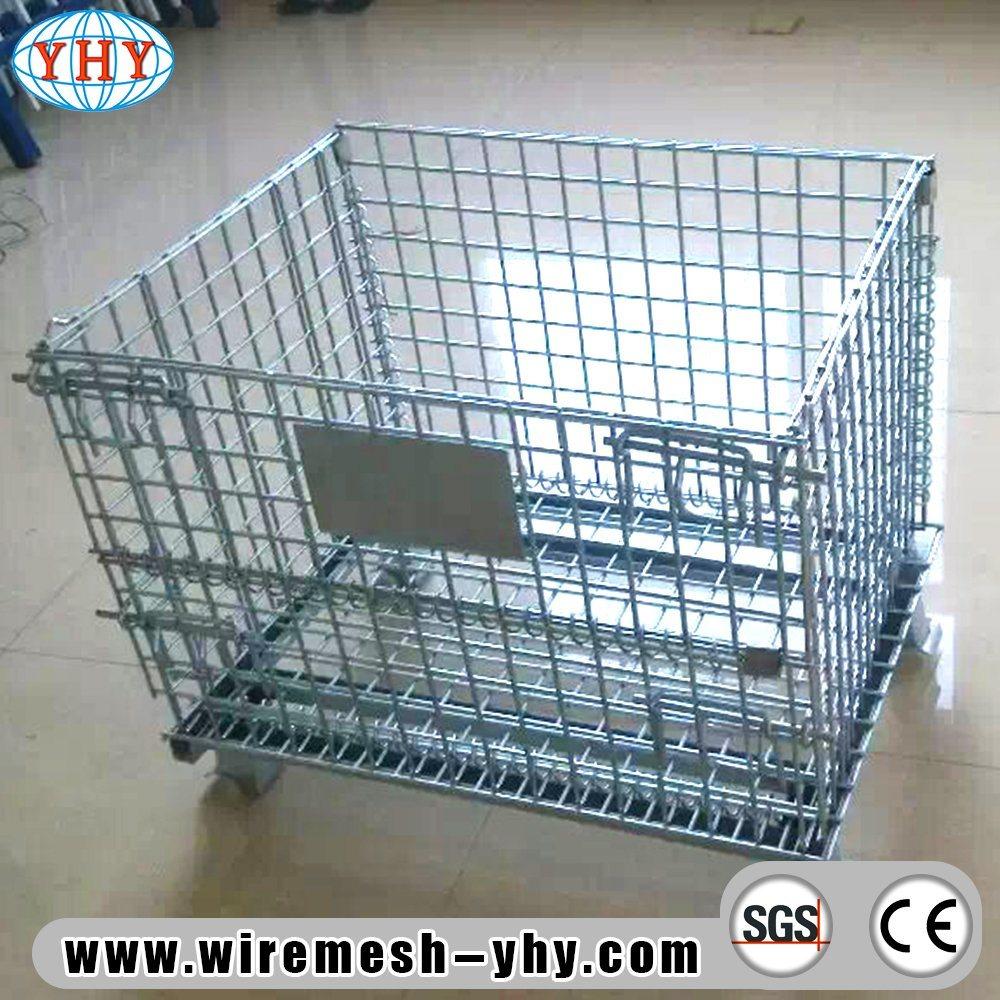 China Storage Metal Pallet Basket Warehouse Galvanized Wire ...