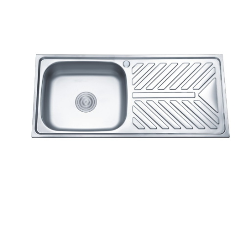 Cut Out Size 940 410mm Stainless Steel 1 Bowl Drainboard Kitchen Sink