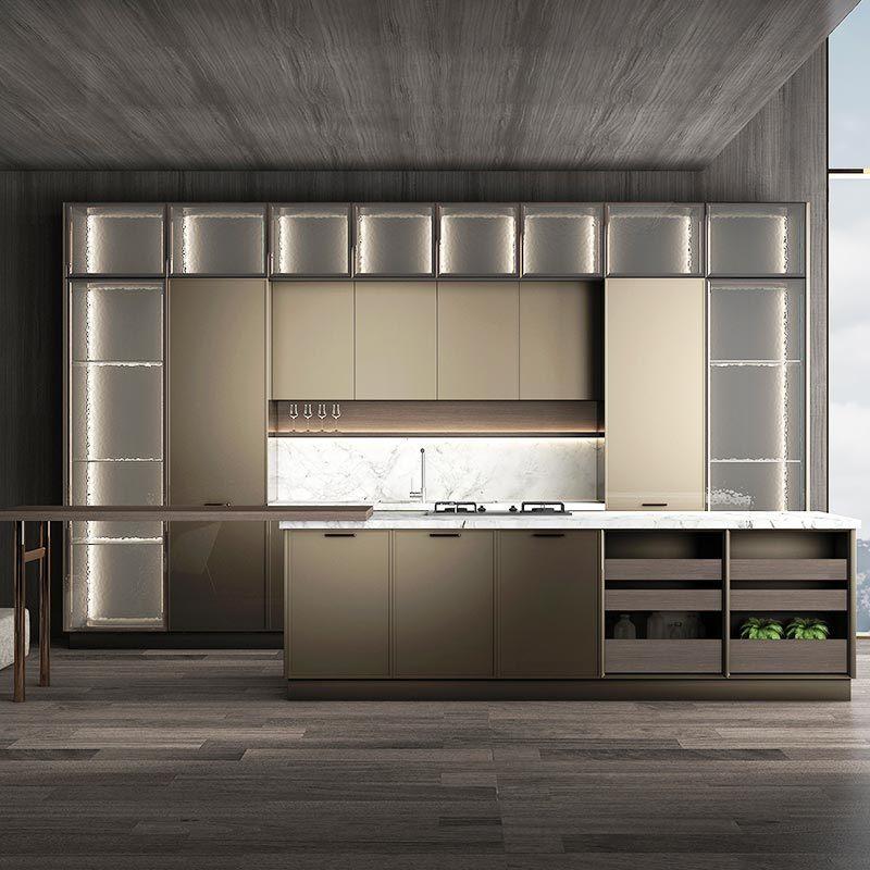 End Bespoke Large Kitchen Cabinets Set, High End Kitchen Cabinets Modern