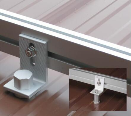 High Intensity Metal Rooftop Solar Mounting Parts