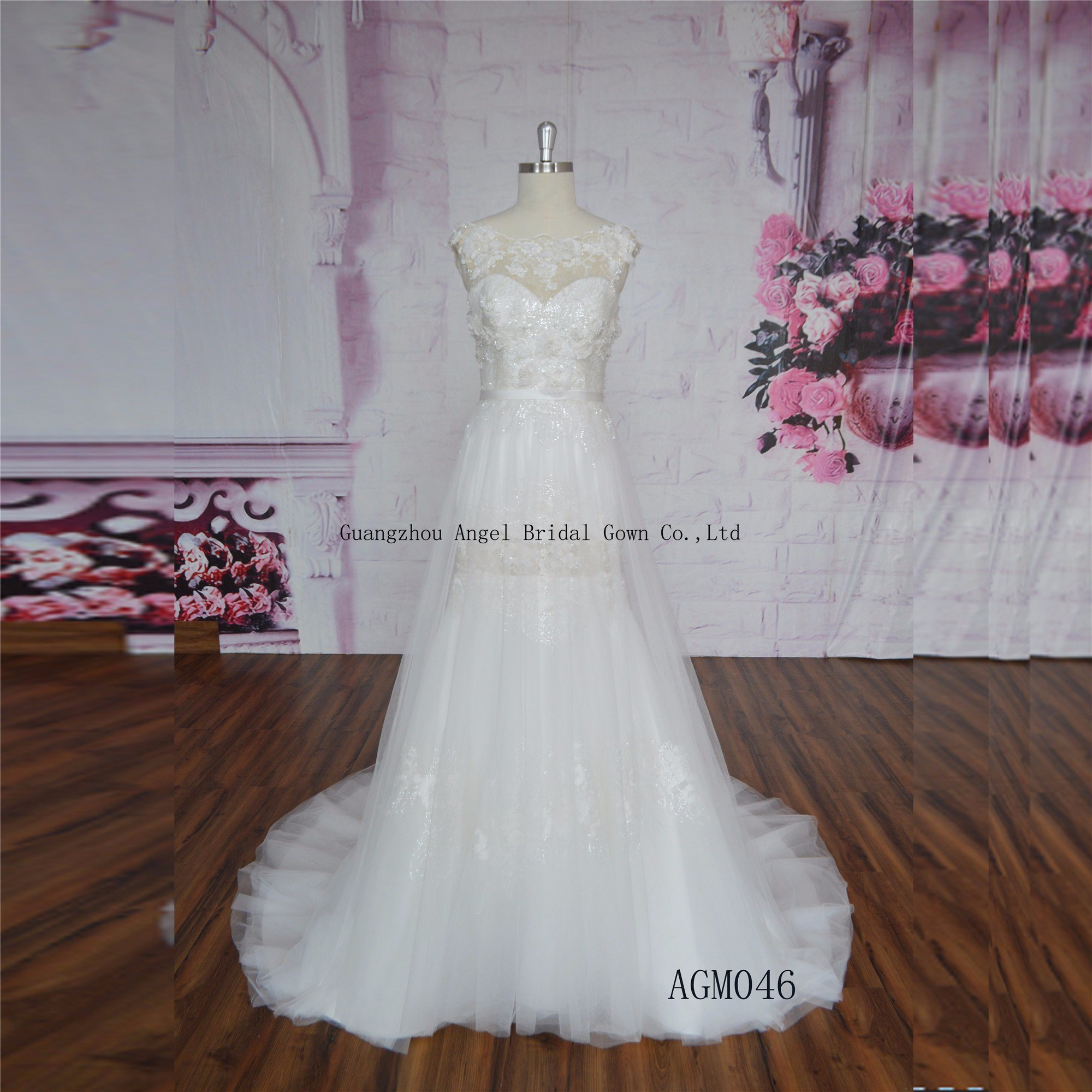 Elegant Wedding Dress Wedding Gown Chic Purely Manual Bow