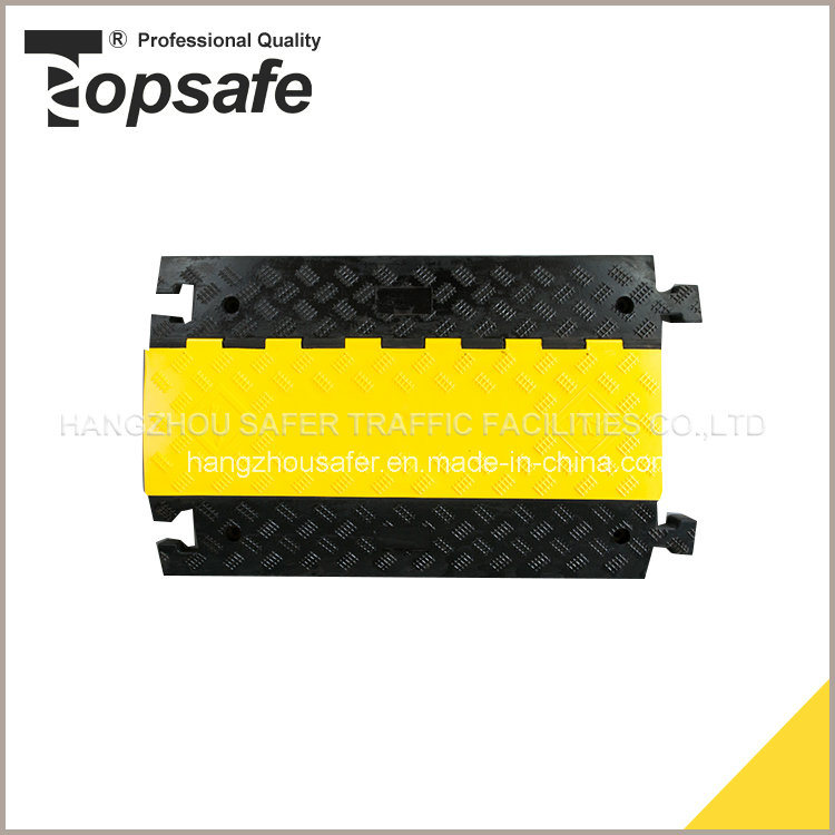 5-Channel Rubber Cable Cover with Yellow Lid (S-1135)
