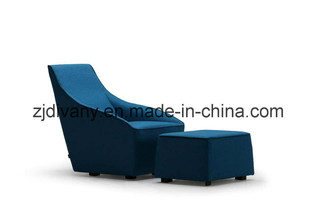 European Style Wooden Frame Leather Seat Leisure Sofa (D-54)