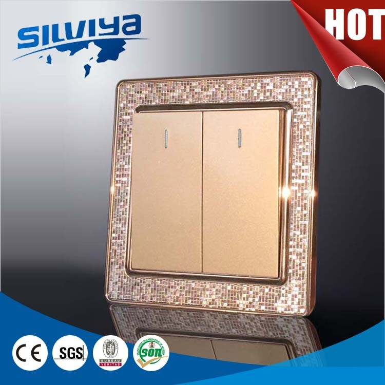 China High Quality Two Gang One Way Electric Wall Switch - China ...
