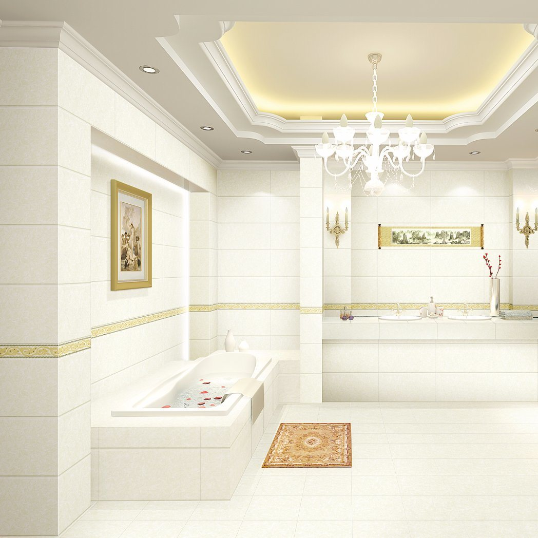China Building Material Glossy Surface Marble Look Bathroom Wall ...