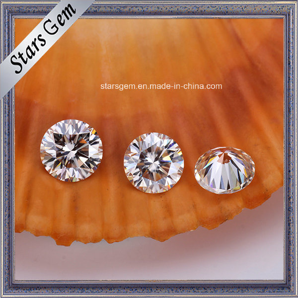 Pure White Color 1 Carat H&a Cut Synthetic Diamond Loose Moissanite for Jewelry Rings