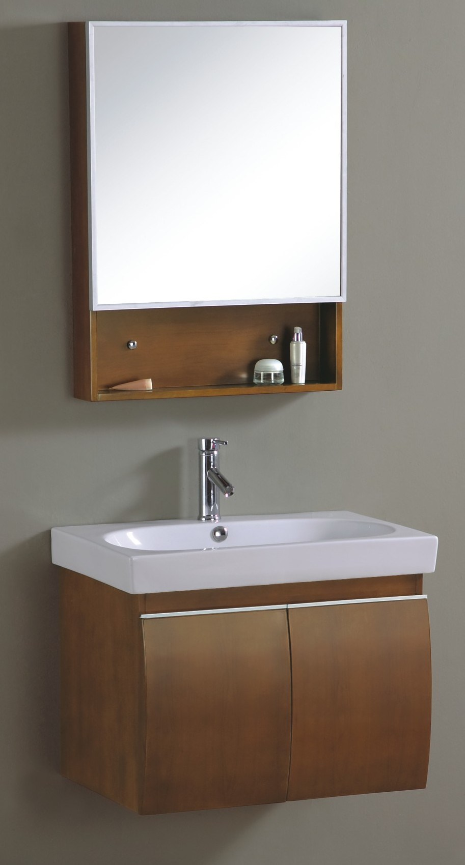 China Wall Mounted Fashion Wooden Bathroom Vanity Cabinet ...