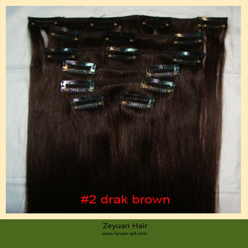 China Brazilian Hair Clip In Hair Extensionclip On Human Hair
