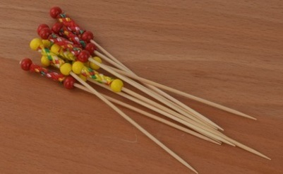 China The Best Quality And Beautiful Bamboo Cocktail Skewers Fruit