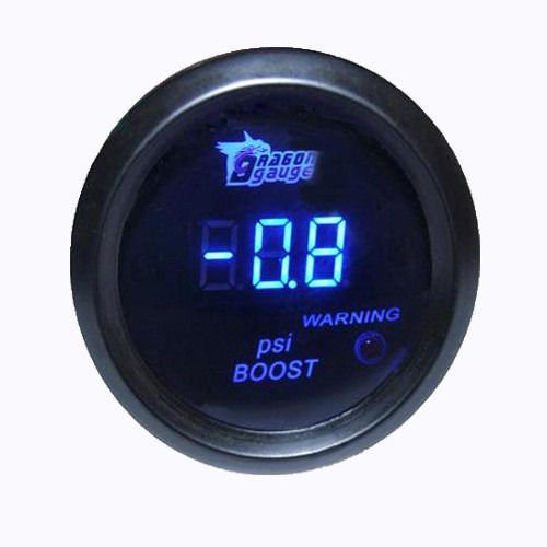 2″52mm Car Truck Digital PSI Turbo Boost Gauge Pressure Meter Kit W//Blue LED Hot