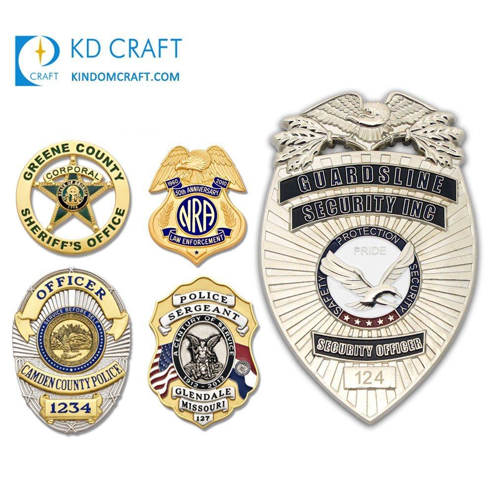 [Hot Item] Cheap Custom Metal Italian UK Police Lapel Pin Badge Maker  Indian Pakistan British Army Cap Badge Personalized Sheriff Security Guard