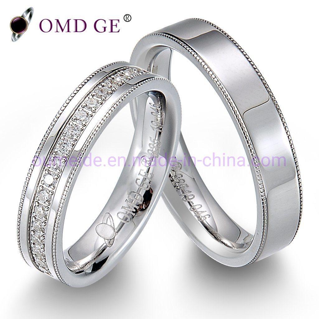 China Custom Diamond Silver Wedding Rings Engagement Rings