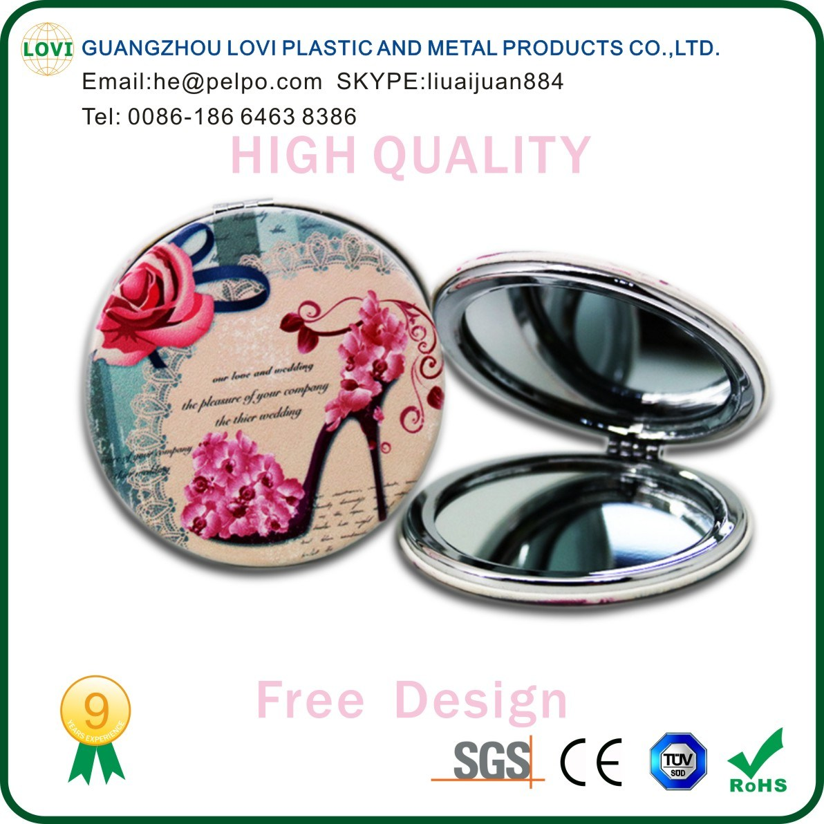 Pocket Mirror, Wholesale Pocket Mirror, Pocket Makeup Mirror, Cosmetic Pocket Mirror