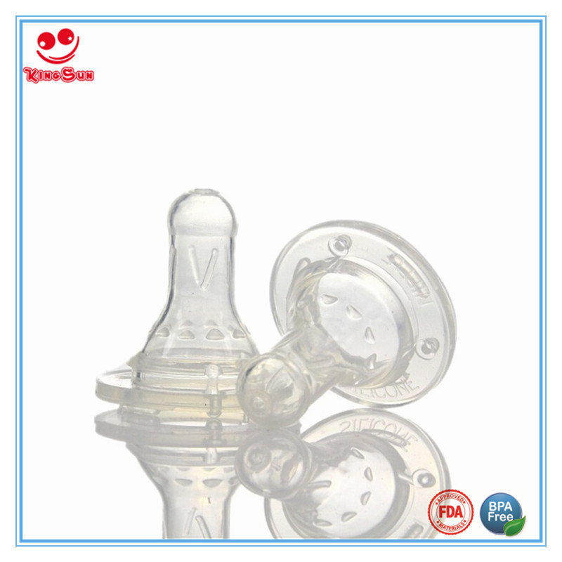 Food Grade Standard Neck Silicone Baby Bottle Nipple