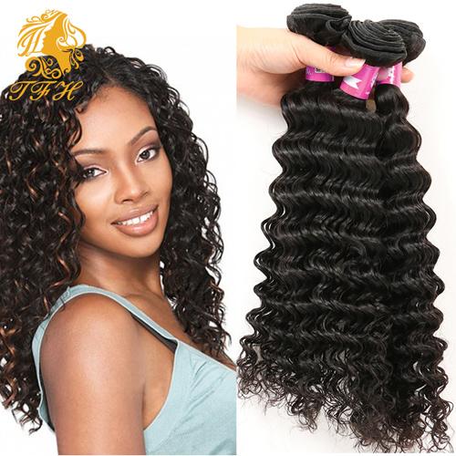 China 3 Bundles Brazilian Deep Curly Virgin Hair Weave Unprocessed