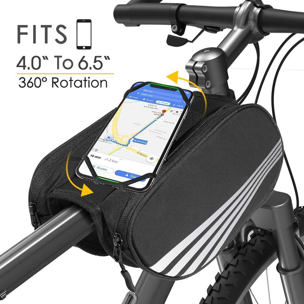 New Outdoor Bike Handlebar Bag Bicycle Front Tube Cycling Waterproof Pocket Pack