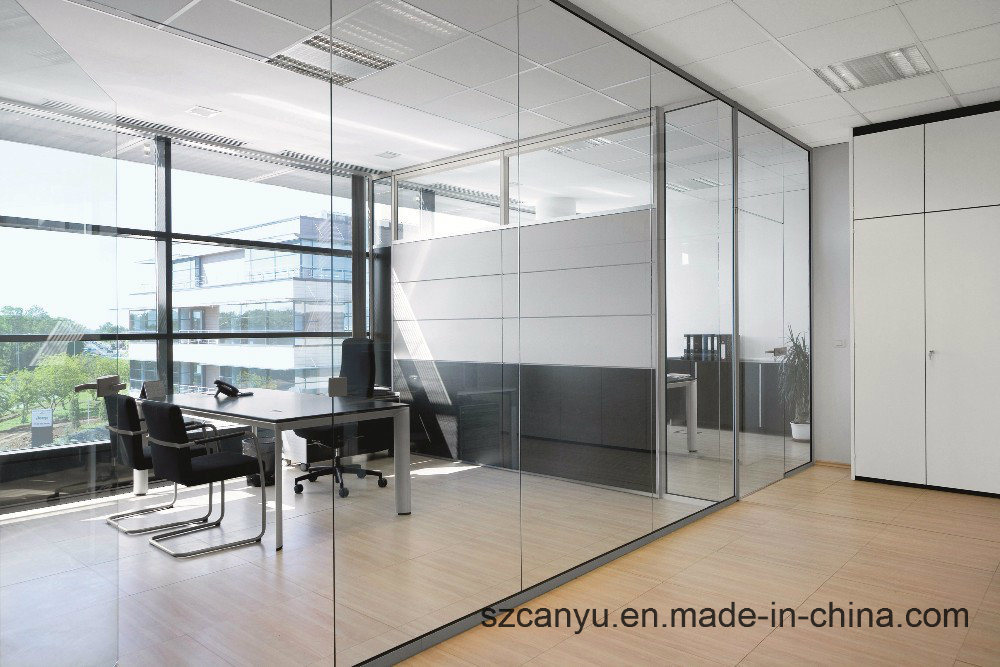 Rational Price Aluminum Frosted Glass Office Partition