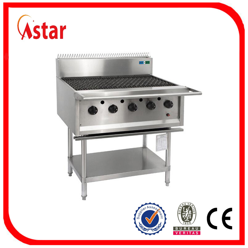 China 5 Burner Gas Barbecue Grill for Commercial Kitchen Equipment ...