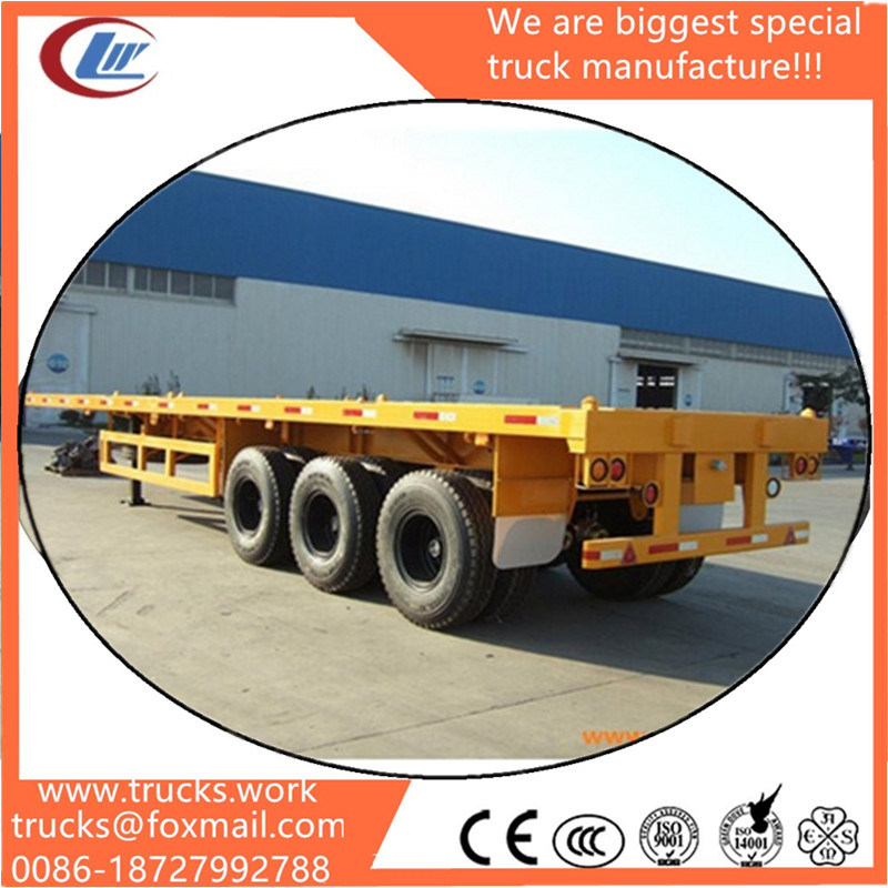 Hot Sale 3 Axle Flatbed 40FT Container Truck Trailers