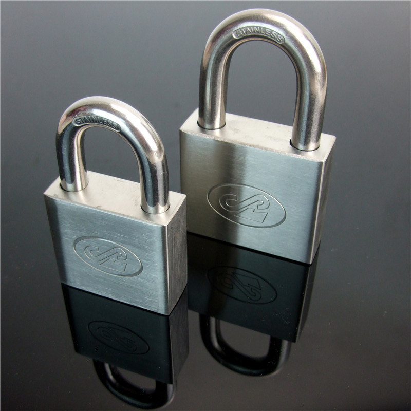Square Type Stainless Steel Padlock with Computer Key