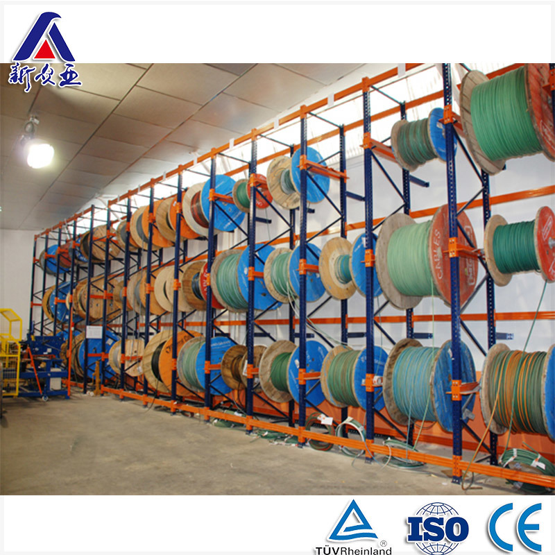 China Antirust Multi Level Steel Cable Reel Storage Rack