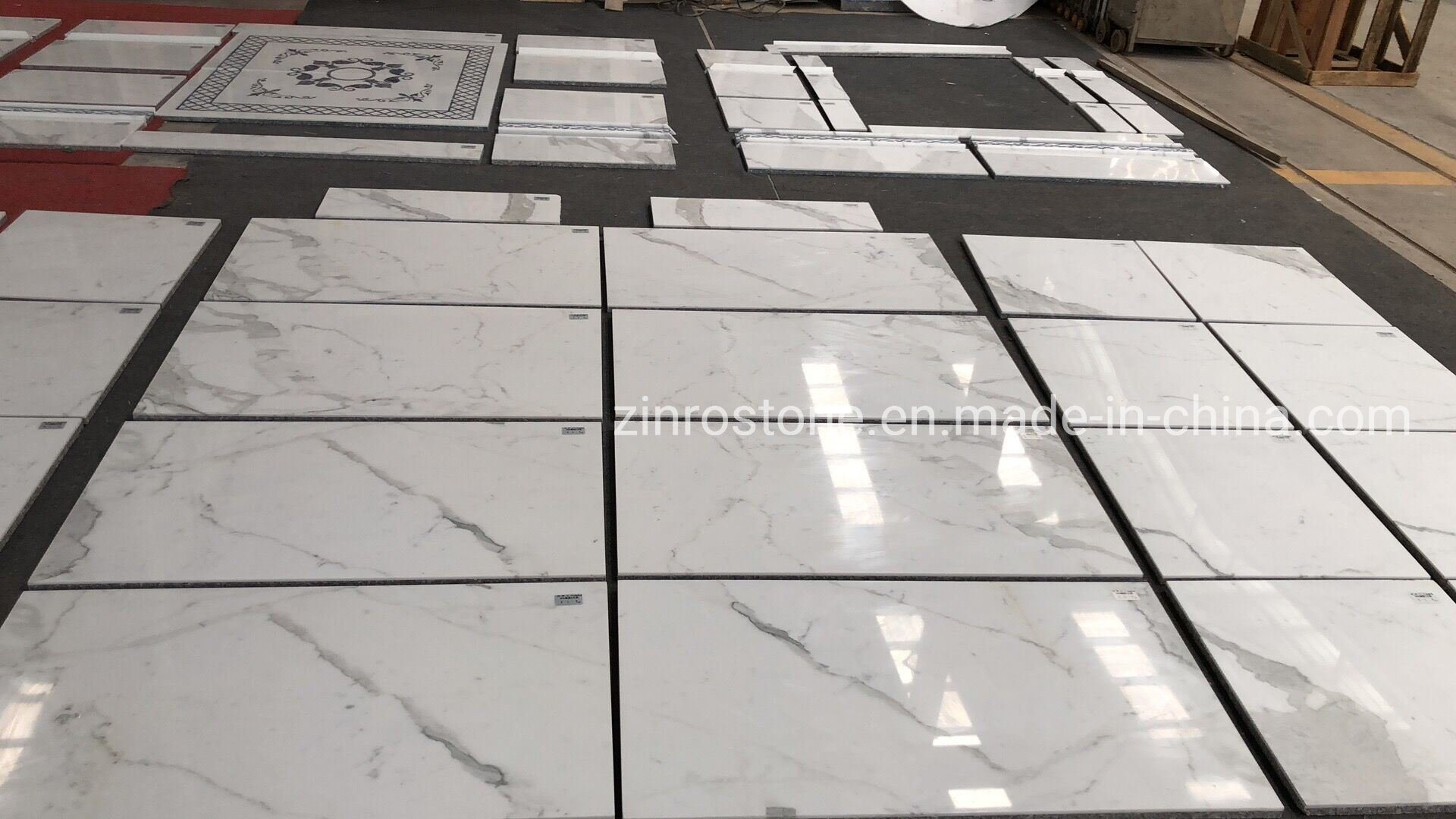 China Natural Calacatta White Marble Tiles For Wall Floor Tiles Countertop China Marble Stone Marbe Floor Tile
