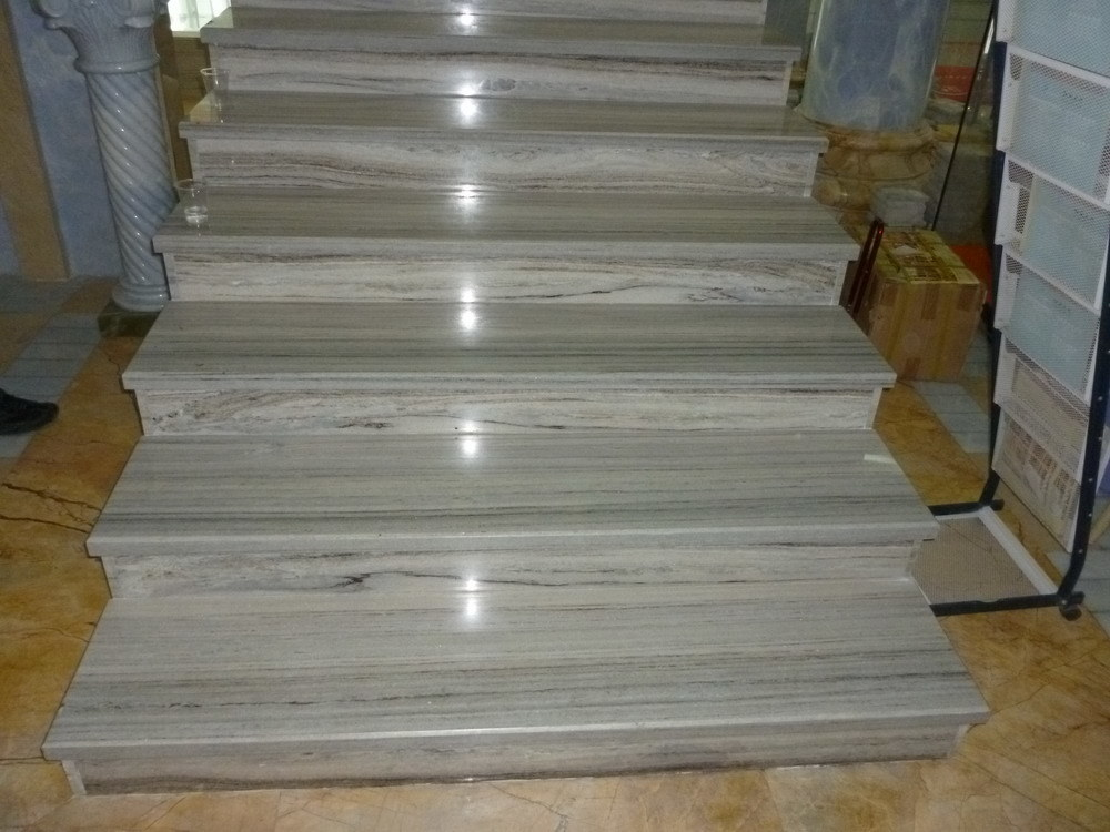 Luxury Silver Grey Marble Slabs Tiles for Floor/Wall/Stairs Decoration