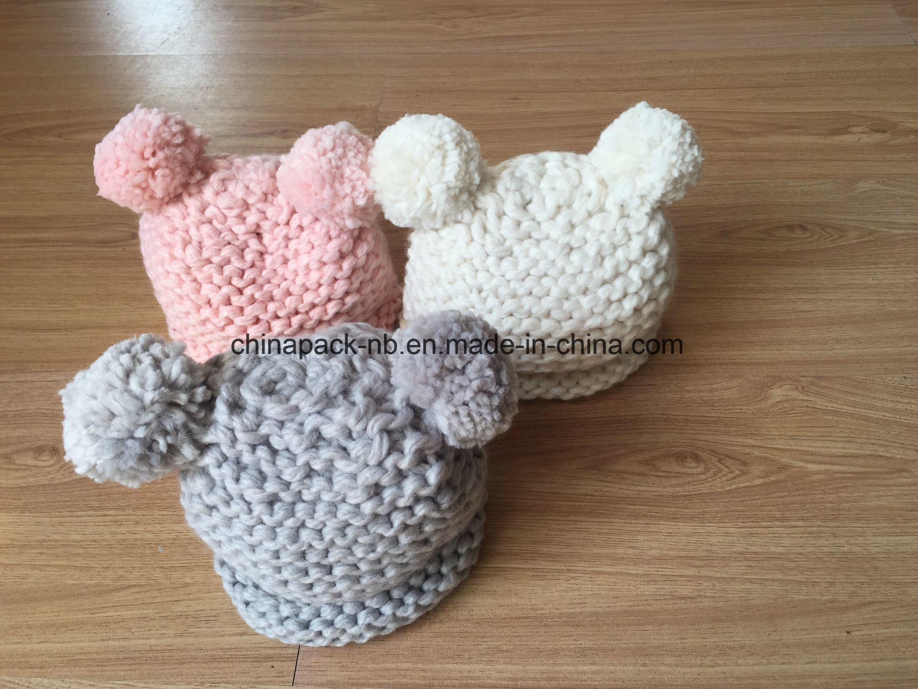 3025388c4 [Hot Item] Cat Ears Beanie Hat Cute Baby Kids Toddler Ski Skate Crochet  Knitted Warm Cap (CPHC-7006X)