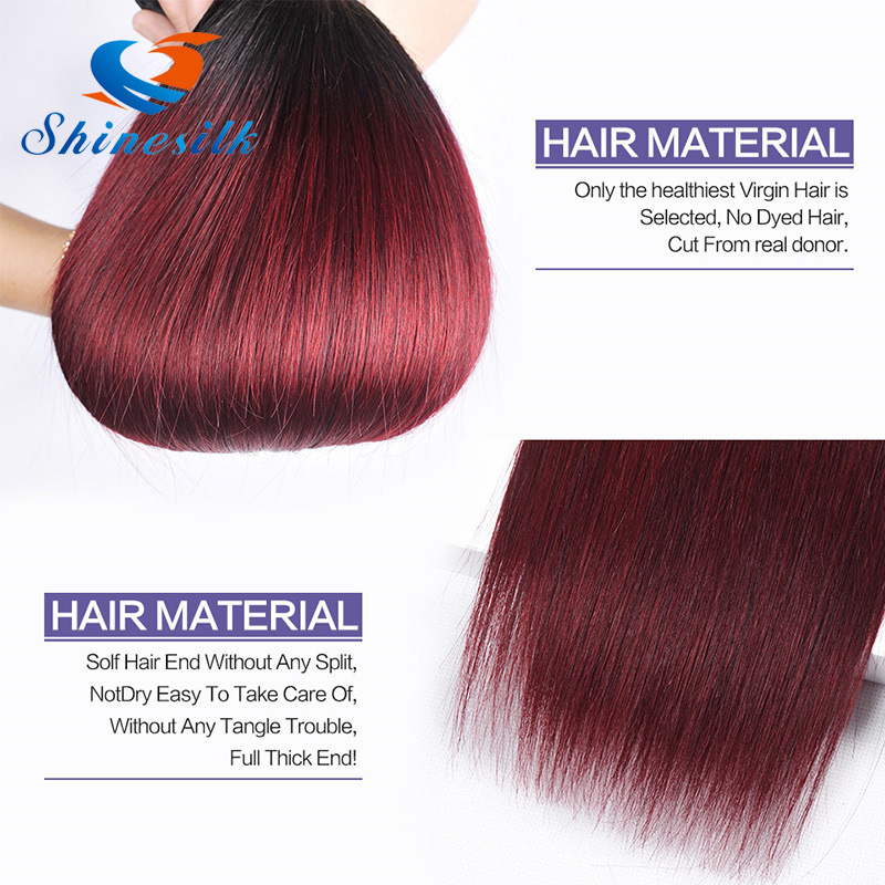 China 7a Ombre Malaysian Straight Hair 3 Bundles Ombre Blonde Human