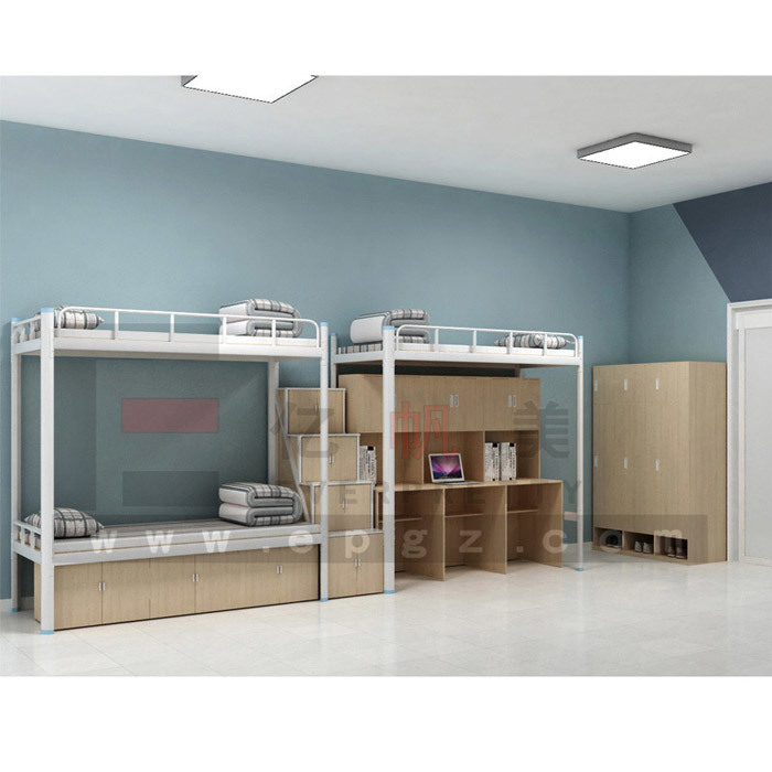 China Three Bunk Beds With Study Table, Bunk Bed With Storage Under, College  Wood Loft Bed With Computer Desk   China Bunk Beds With Study Table, ...