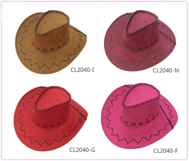 China Cheap Western Suede Cowboy Hat Felt Leather Sombrero