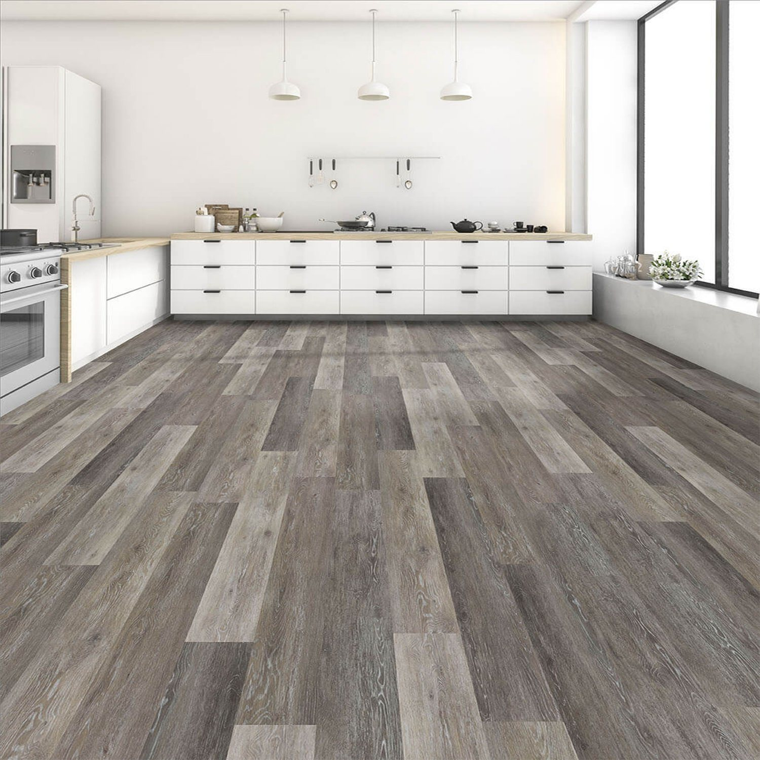 "[Hot Item] Modern Designs Fireproof 4"" Wide WPC Engineered Vinyl Flooring"