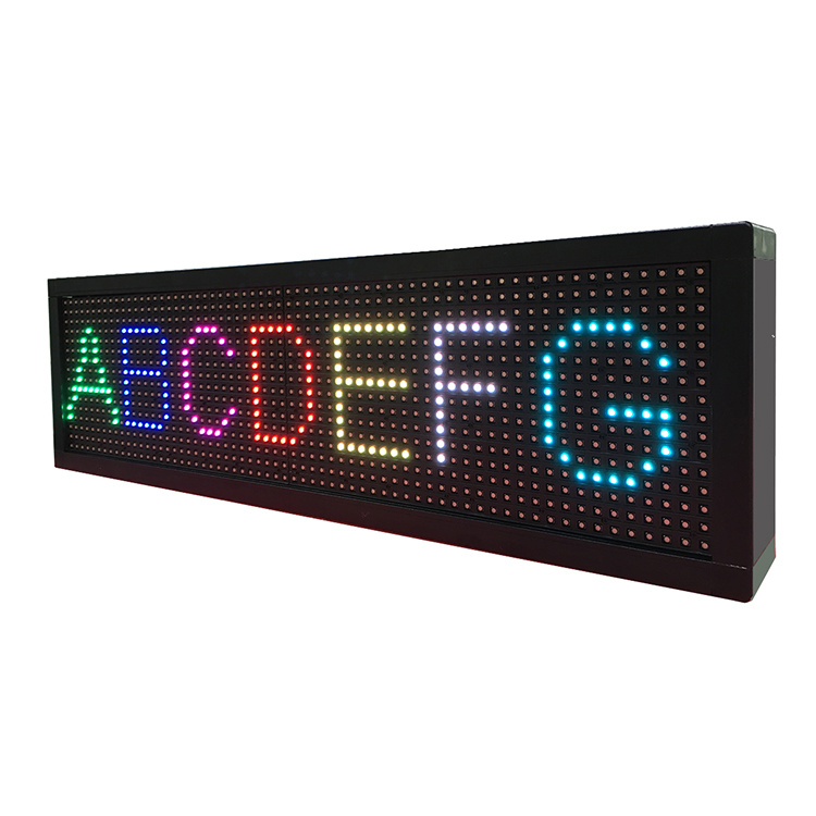 LCD Display/P7.62 Seven Colors Single Line LED Screen Display Indoor Use Outdoor Use
