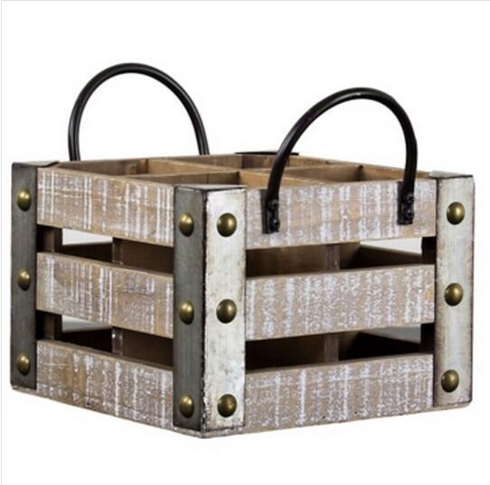 China Metal Element Industrial Style Upcycle Wholesale Whitewashed