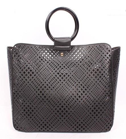 9a3c90f7bf15 China Ladies Elegent PU Laser Cut Bag with O-Ring Handle Fashion ...
