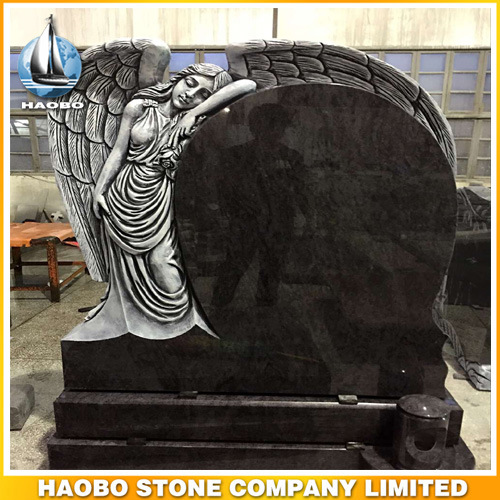 Full Carved in Sorrow Angel Design Headstone Granite Marble Sandstone pictures & photos