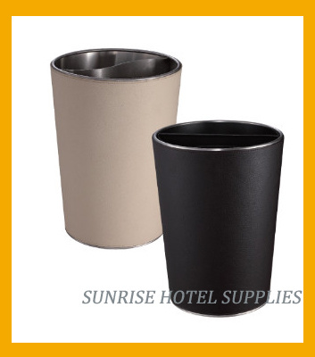 Hotel Black Powder Coating Trash Bin pictures & photos