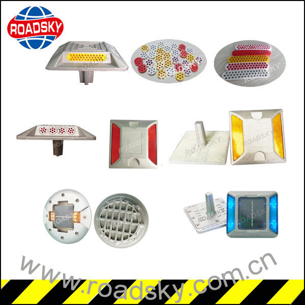 Road Safety Reflectors with Metallic Die Casting Aluminum Reflective Mark