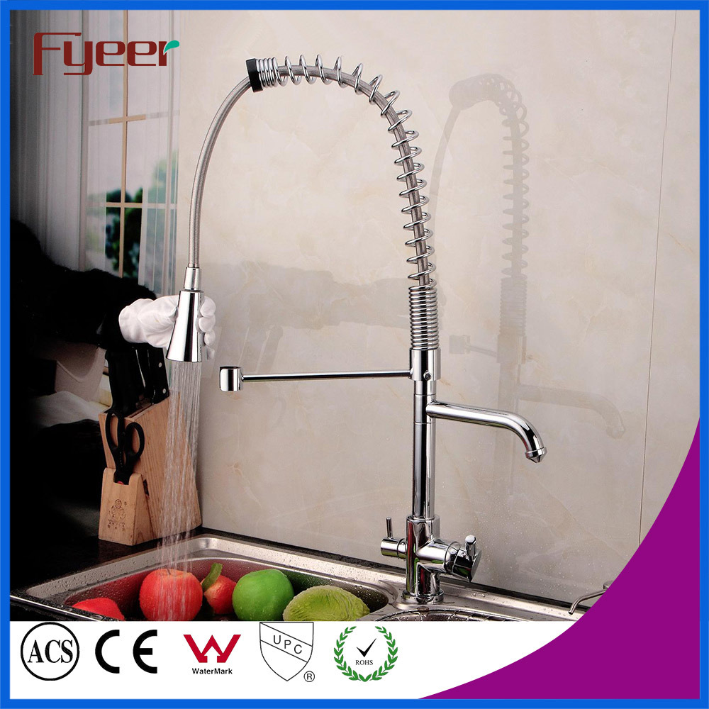 China Fyeer Pull out Spray Kitchen Faucet with Water Flow Filter Tap ...