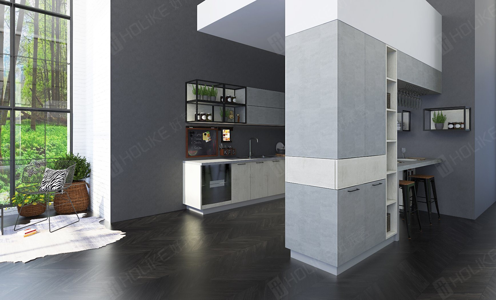 China Modern Worktop Mdf Non Formaldehyde Melamine Kitchen Cabinet Photos Pictures Made In China Com