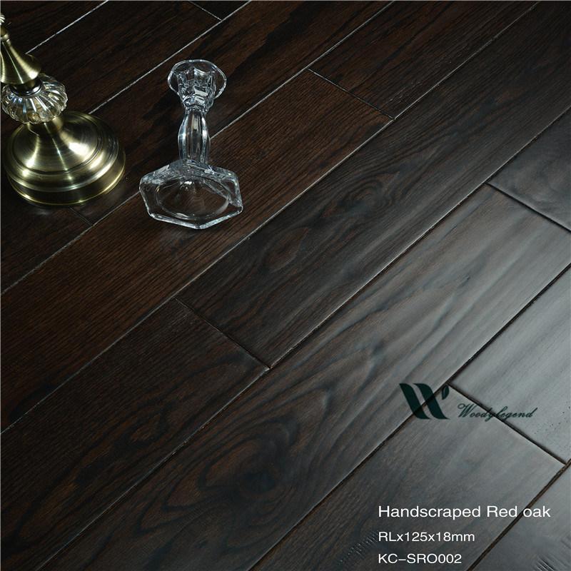 China Dark Oak Solid Wood Flooring