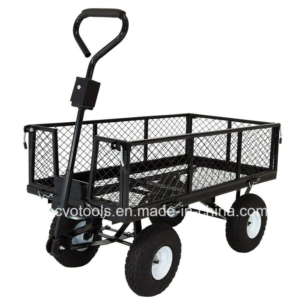 Hot Item Heavy Duty Mesh Nursery Wagon Yard Garden Cart