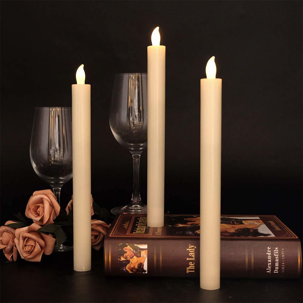 Flameless LED Taper Candles Lights for Wedding, Birthday, Christmas Decoration