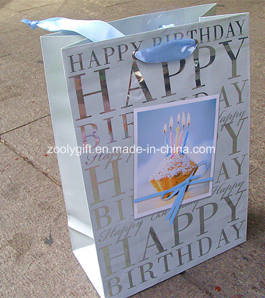 China Wholesale Stamping Happy Birthday Printing Paper Gift Bags