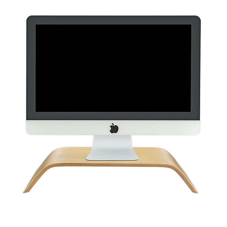 China Wooden Handcraft Computer Monitor Screen Tv Stand Riser Mount For Imac And All Brand Computers Ergonomic Dark Bamboo Wood Pc Stands