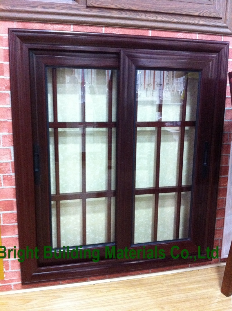 China Sale Bronze Color Aluminum Sliding Windows with Grill Design ... for Sliding Door With Grill Design  103wja
