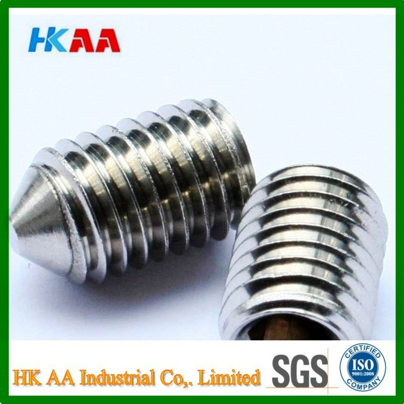 Stainless Steel Cone Point Socket Set Screw (A4 DIN914)
