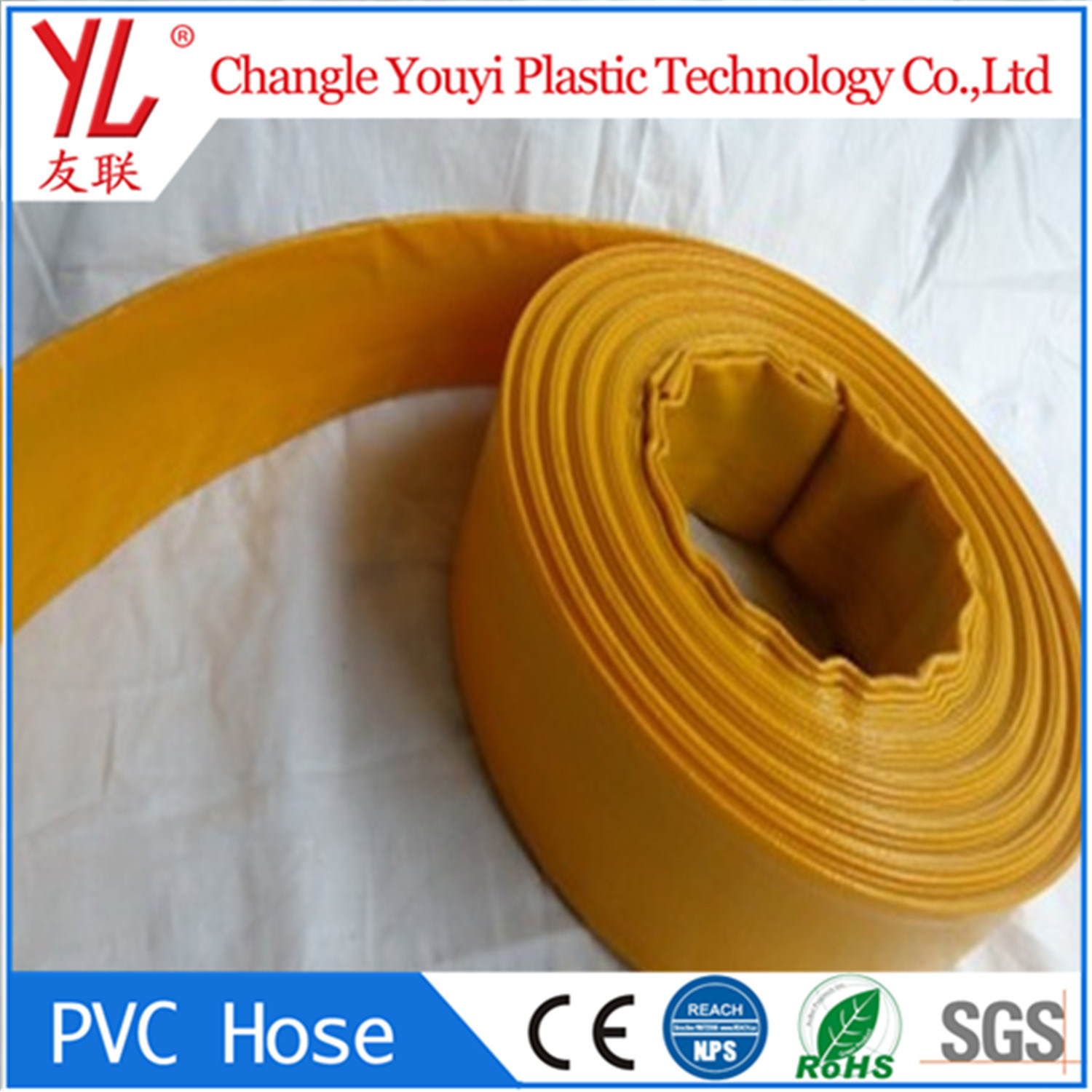 Chinese Colorful PVC Flexible Lay Flat Farm Irrigation Water Pump ...